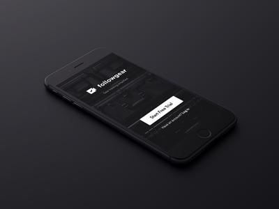 Followgear First Screen