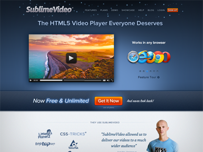 Sublimevideo home