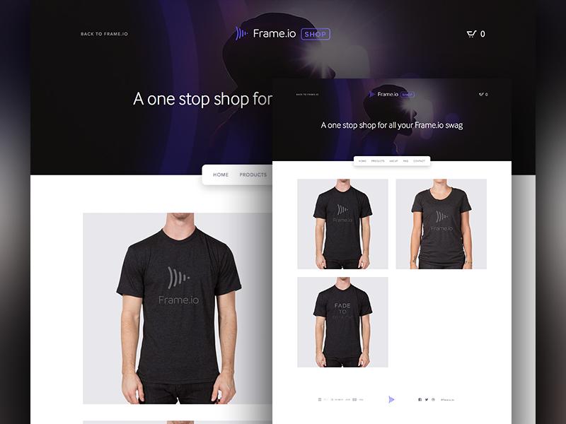 Frame.io - Swag Shop theme swag shopify design ui frame.io