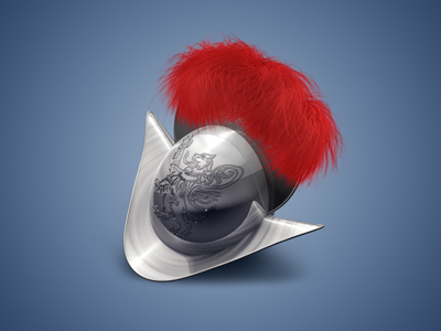 Guard Icon guard ruby icon morion c4d photoshop swiss guard helmet red feathers