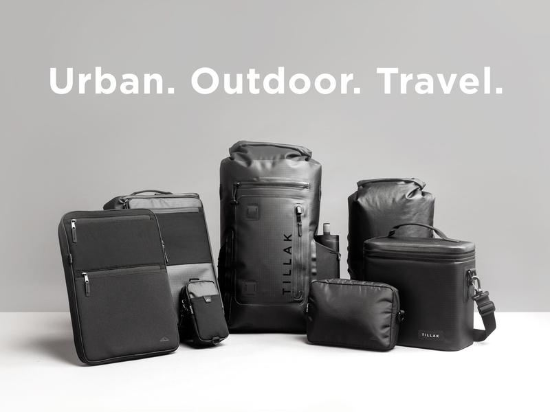 Tillak's Siletz Modular Carry System kickstarter modular cooler laptop sleeve black outdoor outdoors hardware waterproof travel backpack product design