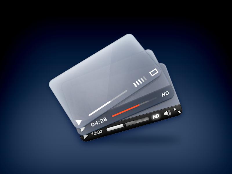 SublimeVideo Player Designs sublimevideo icon players design skin theme flat light colours 3d c4d html5 video