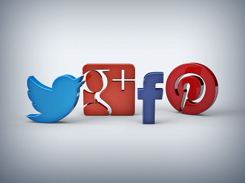 Sublimevideo Social Sharing google plus sharing sublimevideo icon twitter facebook pinterest colours 3d c4d html5 video social networks