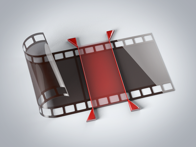Sublimevideo Cue Zones cue points cue zones film roll html5 video icon c4d 3d sublimevideo