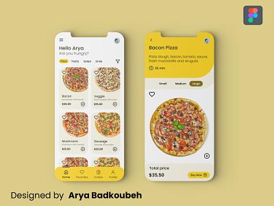 Fast Food App pwa mobile app pizza fast food food app figma app ux ui