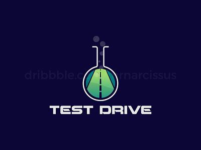 Test Drive road test tube test-drive test graphicsdesign minimal logos illustration logo design graphics illustrations illustrator logotype illlustrator logodesign graphic design