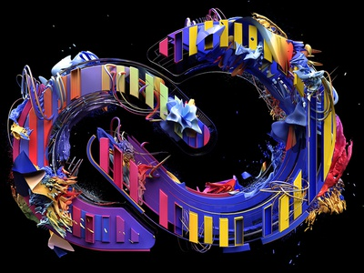 Adobe Creative Cloud Full 3d adobe icon cloud creative suite render type c4d cgi illustration abstract