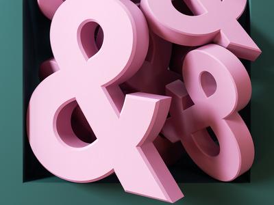 Framed - Ampersands cgi typography octanerender octane 3d type ampersand