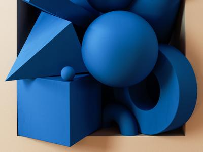 Framed - Primitive Shapes design digital art colour abstract artwork cinema 4d c4d illustration 3d type render