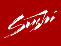 Sushi calligraphy logo