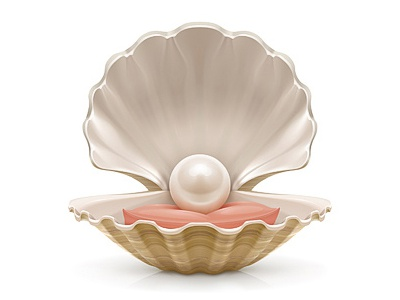 Pearl vector illustration pearl shell