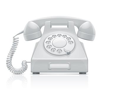 Telephone phone telephone vector illustration