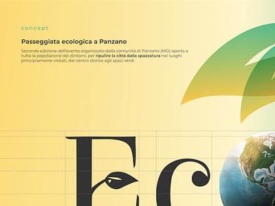EcoPanzeggiata - Concept social media design logo instagram stories instagram post facebook ads event branding ecology eco design branding
