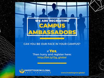 Campus Ambassador recruitment poster ambassador recruitment