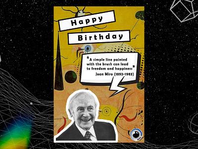 Birthday poster (Joan Miro) birthday joan miro