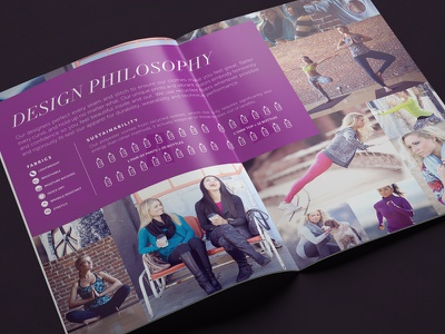 Soybu Press Kit apparel booklet color design graphic design layout purple print