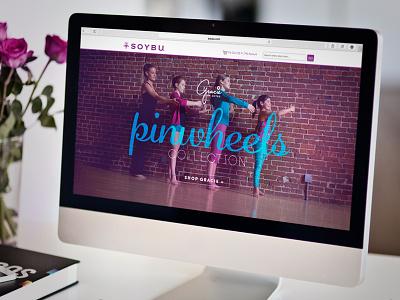 Gracie Homepage Slider apparel color design ecommerce graphic design slider web