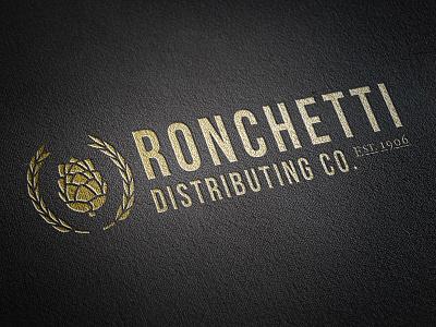Ronchetti Identity barley beer branding design gold hops identity illustration logo