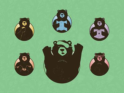 Bear Illustrations spring illustration design character bear animal