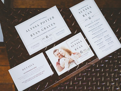 Wedding Stationery design typography save the date invitation wedding print clean
