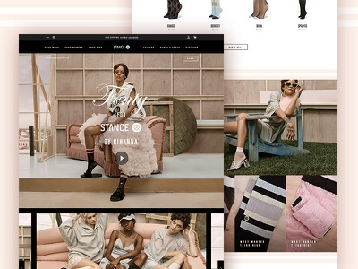 Rihanna Collection Landing Page fashion ecommerce layout web stance socks landing page design