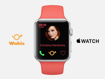 Wakie Apple Watch red mad men ux ui smartwatch wearables apple watch apple wakie iwatch