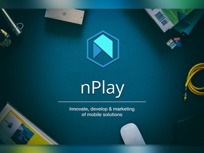 Company logo - nPlay origami bees hexagon website branding rebranding redesign mobile logo