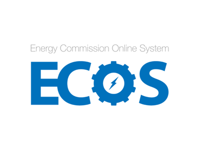 Energy Commission Online System Logo government spark design logo electric energy ecos