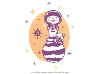 Astronaut​​​​​​​ - Camera camera cute kawaii character illustration