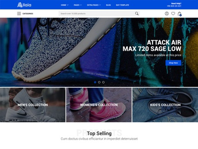 Allaia - eCommerce Home Page shopping cart template shopping store catalog ecommerce shop themeforest