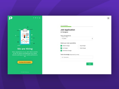 Potenza - Job Application Form Wizard upload resume recruitment questionnaire job interview form file upload branch wizard application form themeforest