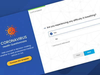 Magnifica - Questionnaire Form Wizard site template questionnaire questionary interview health form covid-19 coronavirus branch wizard themeforest