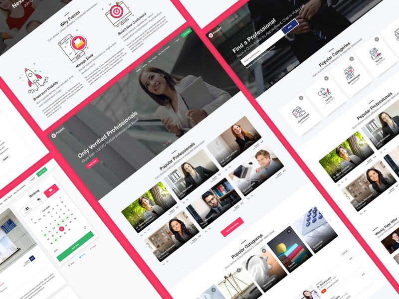 Prozim - Professionals Directory & Listings Template envato uidesign ui  ux teachers professional listings lawyer doctor directory consultation business template themeforest