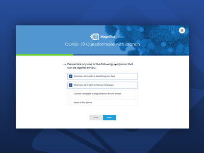 Magnifica - COVID-19 Corona Virus Questionnaire Form Wizard interviews form smtp branching branch wizard coronavirus covid-19 interview questionary questionnaire site template themeforest