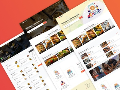 FooYes - Delivery or Takeaway Food Site Template uidesign webdesign website template themeforest justeat takeaway restaurants modern listings food delivery deliveroo