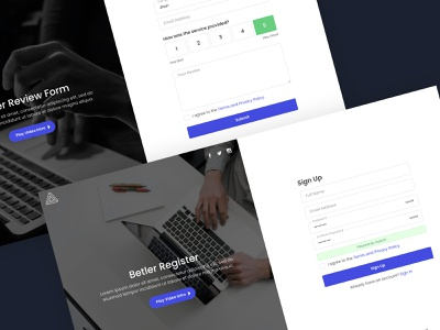 Betler - Multipurpose Forms HTML Template web design uixdesign themeforest sing up sign in rtl review register modern login form file attachment clean