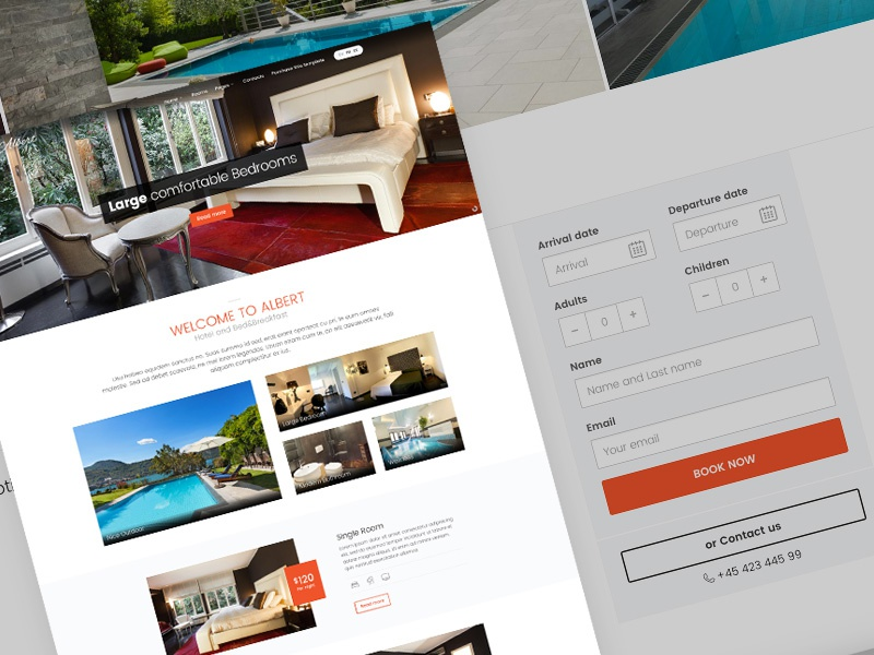 Albert - Hotel and Bed&Breakfast themeforest travel tourism resort motel hotel holiday booking form bed and breakfast bb accommodation