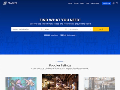 Sparker - Directory and Listings Template