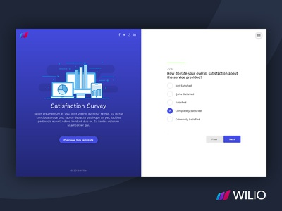 Wilio - Survey and Multipurpose Form Wizard wizard form survey signup reviews registration quote quotation opinion form email comments