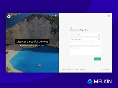 Melkin - Booking and Reserve Form Wizard themeforest wellness travel tourism spa restaurant reserve motel hotel form wizard booking wizard booking form bed and breakfast accommodation