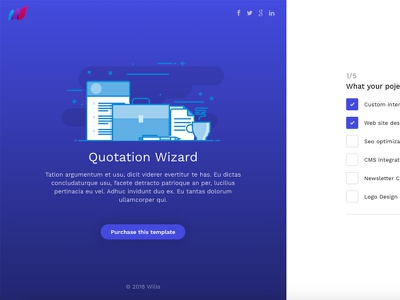 Wili - Quotation Wizard form wizard themeforest quotation