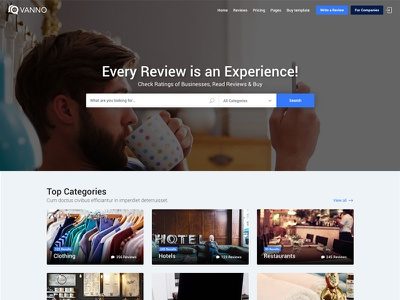 Vanno - Consumers Reviews and Rating Directory themeforest business consumer reviews comments directory yelp rate rating reviews shop tripadvisor
