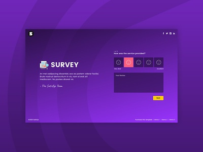 Satisfyc - Satisfaction Survey Form Wizard form wizard themeforest wizard form survey satisfaction reviews quotation opinion form email floating placeholder floating labels comments