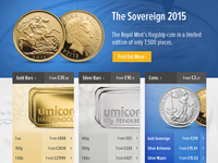 Gold Bullion Ecommerce Web Design
