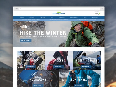 Outdoor Clothing Ecommerce Site