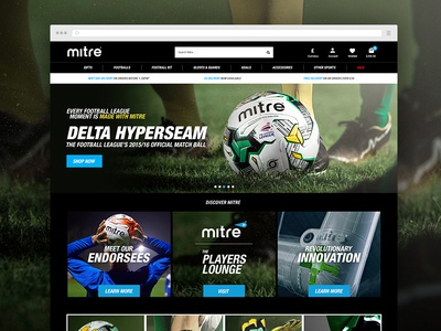 Mitre Ecommerce Homepage Design