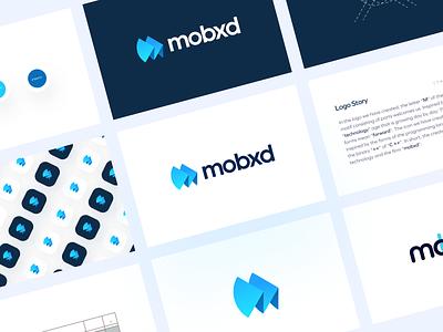 Mobxd Software gradient logo w logo m logo design symmetrical logo symmetricallogo symmetrical texture typography mobile logo mobilelogo mo logo mologo m logo mlogo bluelogo logodesign logotype logo design logos logo