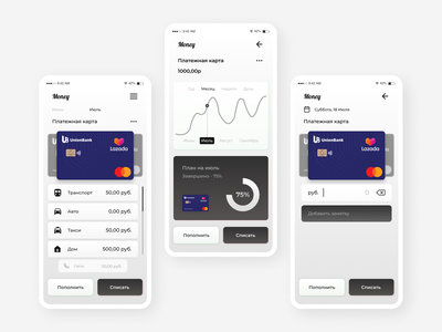 Mobile Finance App mobile design mobile app finance design web ui ux