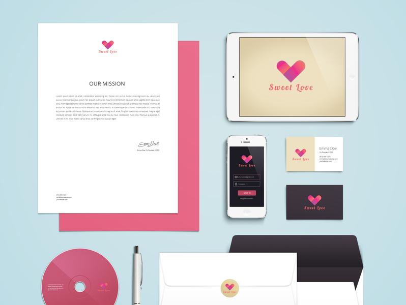 sweet love logo branding logodesign brandidentity branding design illustration logo