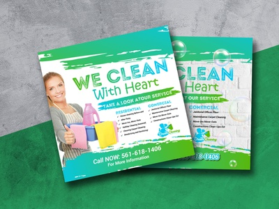 Flyer Design For Cleaning Services flyer instagram facebook social media cleaning